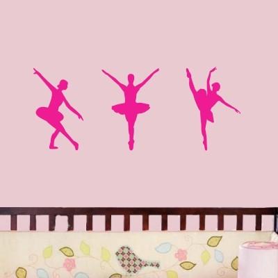 Otroška stenska nalepka - Baletke